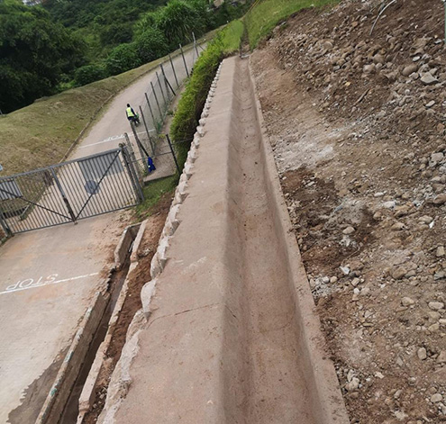retaining walls drainage systems in kzn